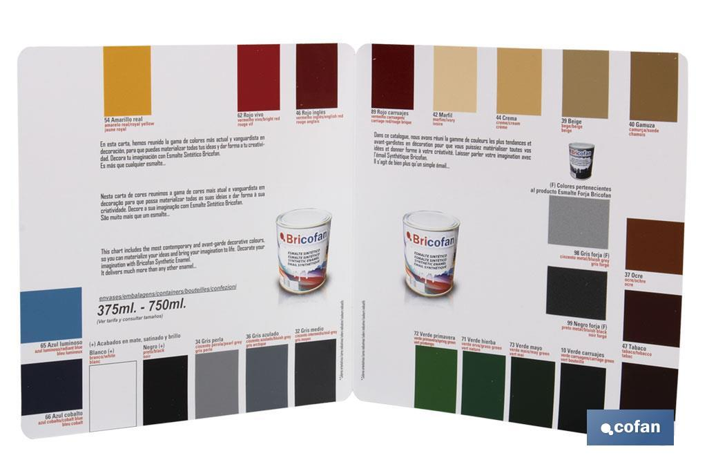 """Synthetic enamel"" colour chart - Cofan"
