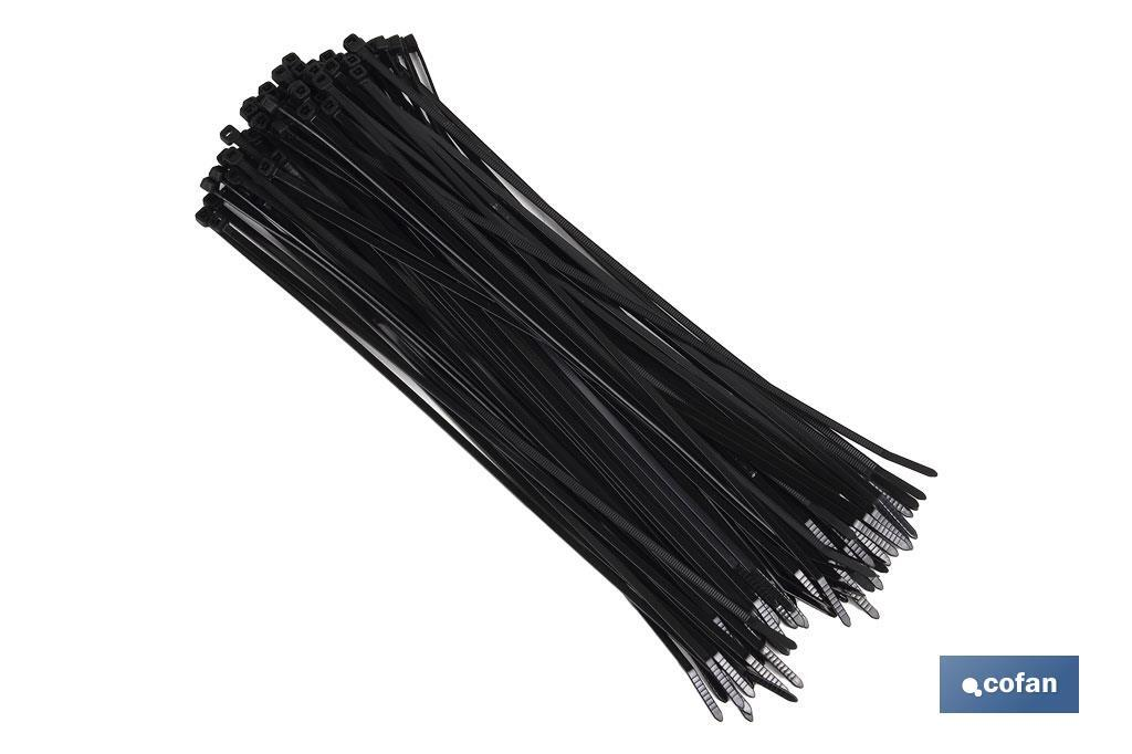Nylon cable ties PA 6.6 Black - Cofan