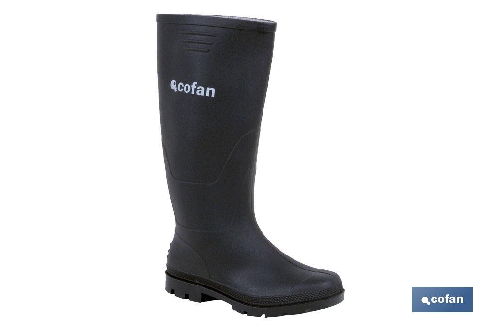 PVC high-cut rain boot (black) - Cofan