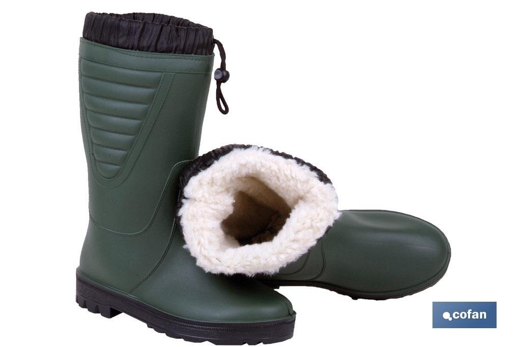 PVC rain boot with inner polar lining - Cofan