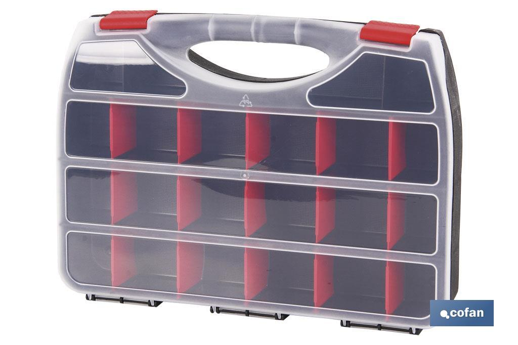 Tool box with 22 sections with handle - Cofan