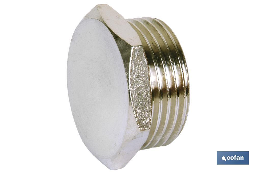 Hexagonal plug male thread - Cofan
