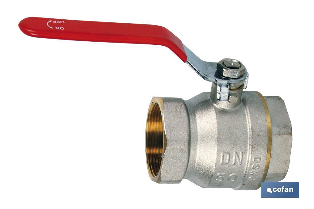 Ball valve-fully opened way - PN-30 - Cofan