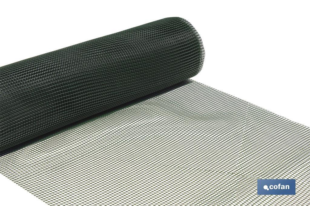 SQUARE GREEN PLASTIC NETTING ROLL - Cofan