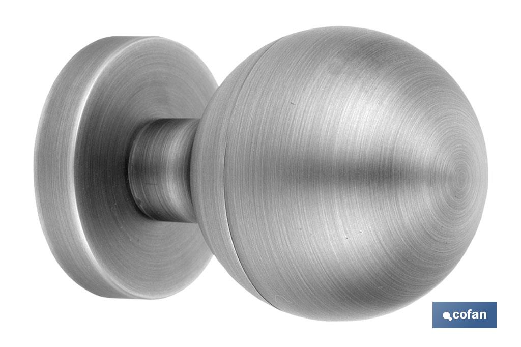 CHROME ZAMAK DOOR KNOB - Cofan