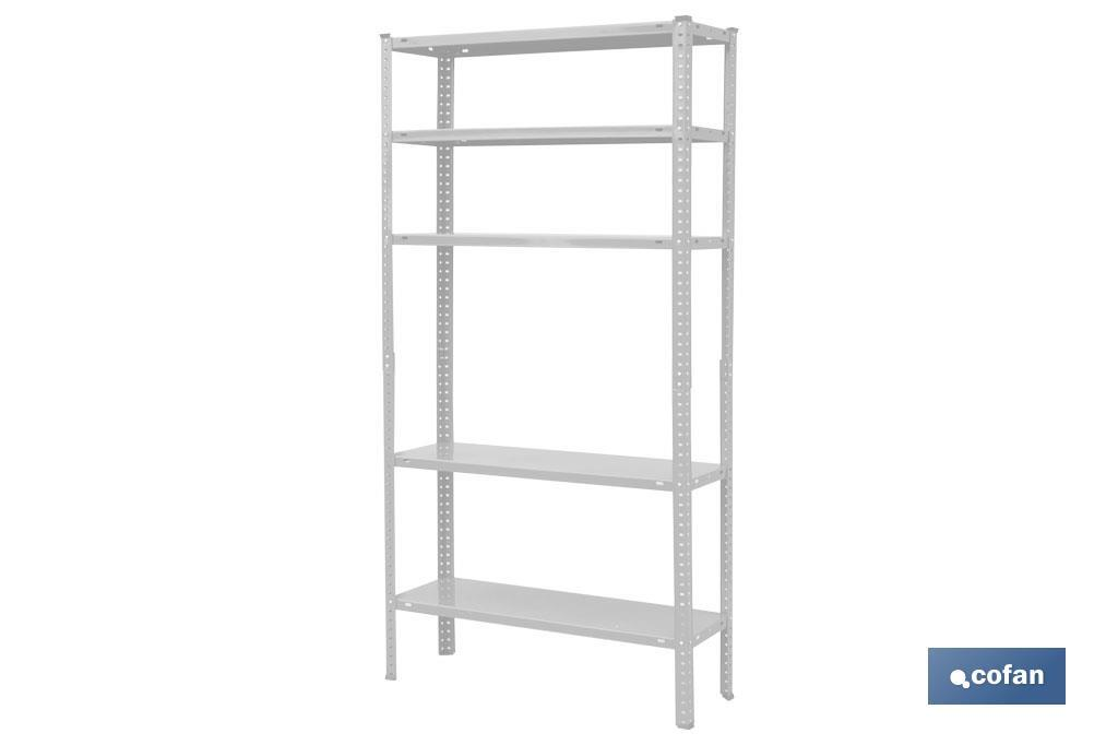 White metal shelving - Cofan