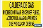 GAS BOILER, DO NOT LIGHT FIRES NOR BRING FLAMES OR SPARK-PRODUCING DEVICES CLOSER