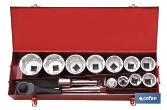 "Ratchet set 1"" 15 Units - Cofan"