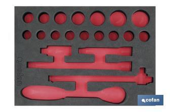 "Tray - Kit of 21 pcs (1/2"" - 6 points) - Cofan"