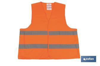 "Orange ""high visibility"" vests - Cofan"