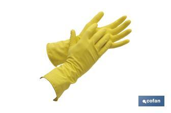 Yellow latex gloves for cleaning - Cofan