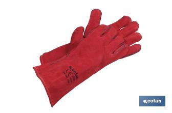 Red welding gloves - Cofan