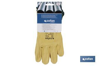 Yellow cow leather gloves - Cofan