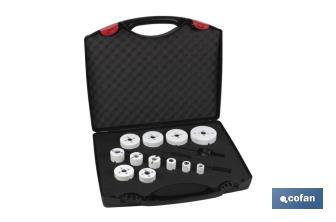 Set case of bimetallic hole saws - Cofan