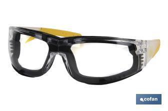 SECURITY GLASSES WITH DETACHABLE FOAM-PADDED DESIGN - Cofan