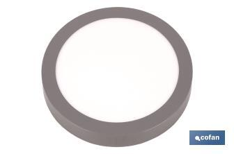 "Grey round downlight ""surface"" - Cofan"