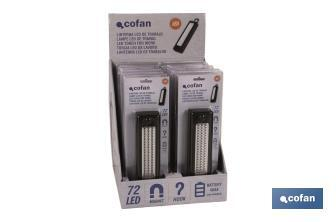 Display stand with 12 units of 72 LED lamps - Cofan