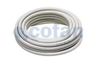 PVC cable hose, white, 2 x 1mm - Cofan