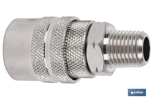 0.011 V Cofan 09000059 Conector con rosca macho 3//8