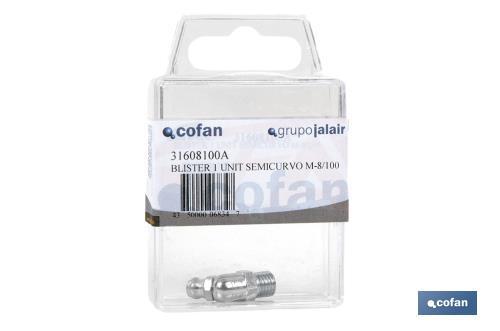 Cofan 31610100A Engrasador semicurvo M-10//100