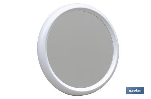 Espejo Redondo Blanco Cofan